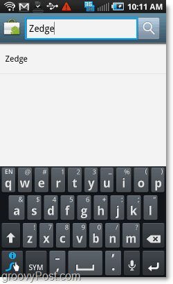 search the android market for zedge