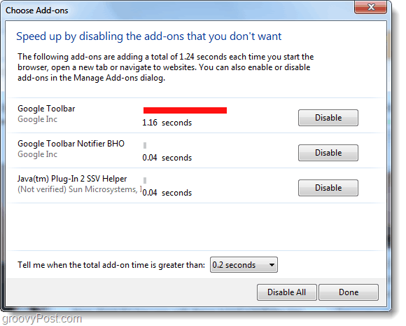 New IE9 Add-on Manager