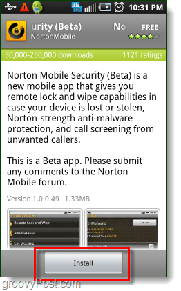 Install norton security on android