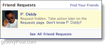 facebook hidden friend request