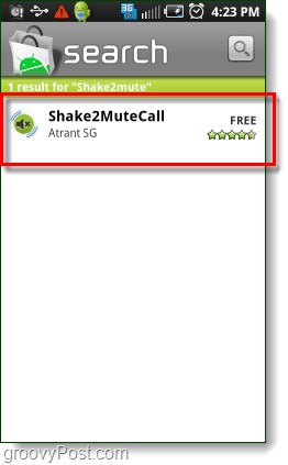search android market shake2mutecall