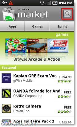 Mobile Android Market Search