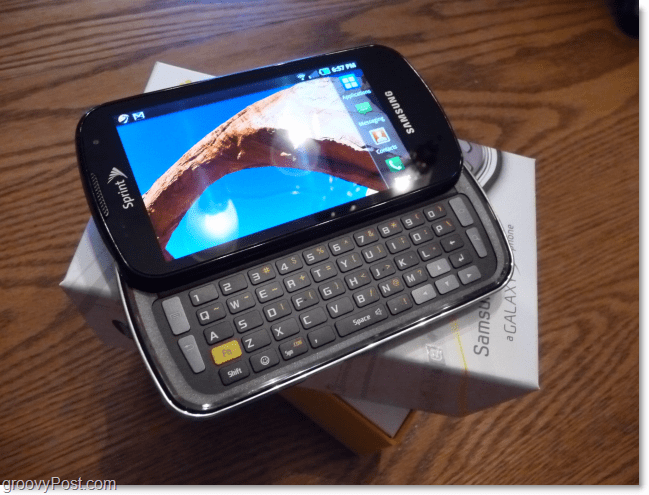 samsung galaxy slide out keyboard