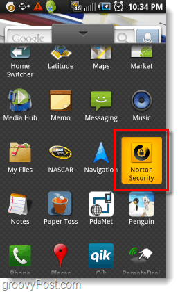 launch android norton security
