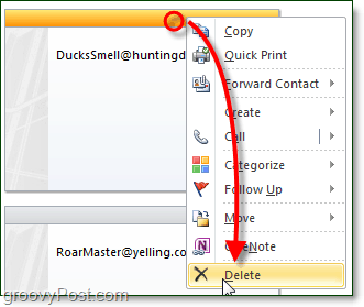 Erase or Delete unsaved contacts in outlook 2010 2007