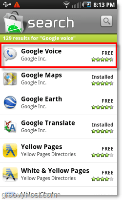 Mobile Android Market Google Voice