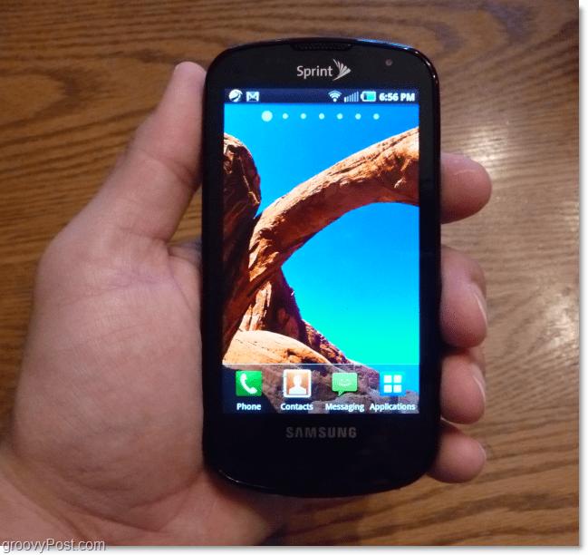 samsung galaxy s screenshot holding in hand