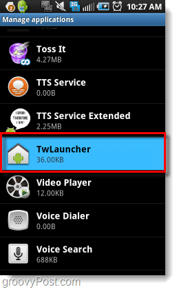 open twlauncher settings