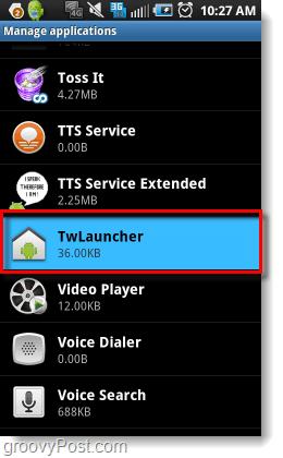 open twlauncher settings