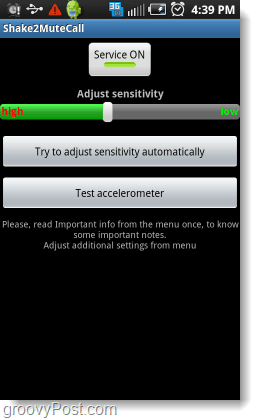 adjust android shake sensitivity