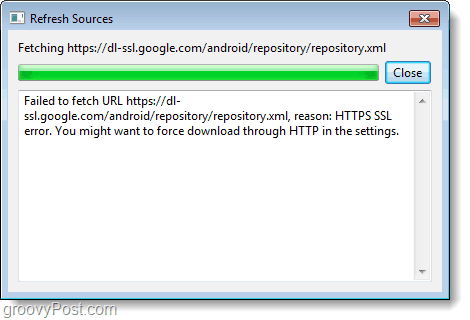 android sdk download error