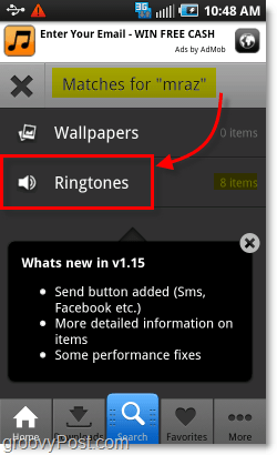 free ringtones on android via zedge