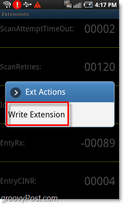 write extension under idledelay on epic 4g or evo 4g