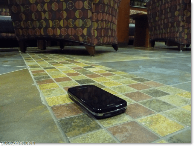 epic 4g samsung galaxy s on ground