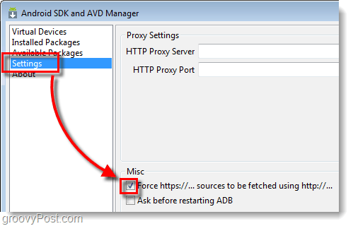 android sdk force https
