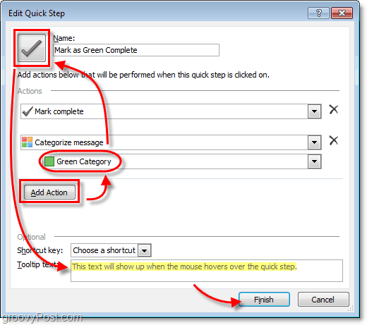 custom quickstep icons in outlook 2010
