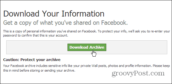Download Facebook Archive