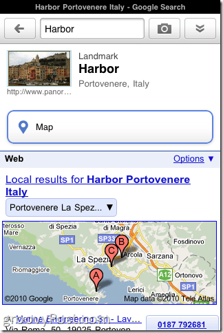Google Goggles for iPhone Landmarks