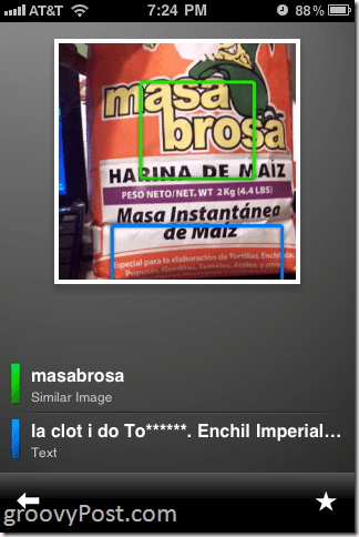 iPhone Google Goggles Translator