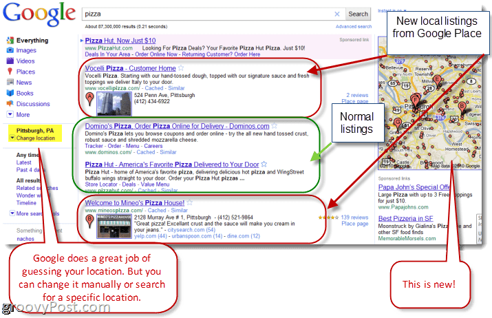 Google Places Search Explained