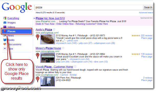 Google Places Search