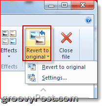 revert to original windows live photo gallery 2011