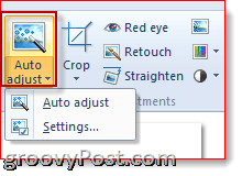 auto adjust windows live photo gallery 2011