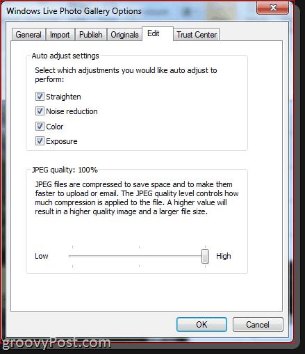 Windows Live Photo Gallery 2011 Editing Photos