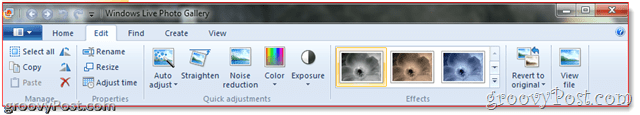 Editing Ribbon bar of Windows Live Photogallery 2011