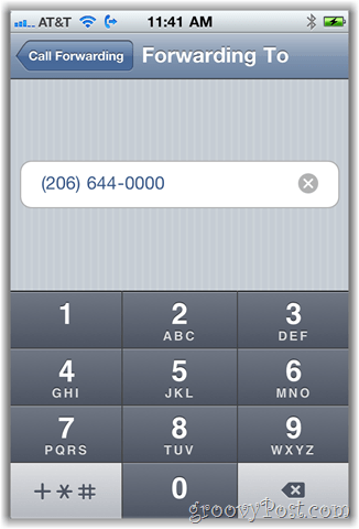 iphone call forwarding option screenshot