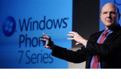 Steve Ballmer presents Windows Phone 7
