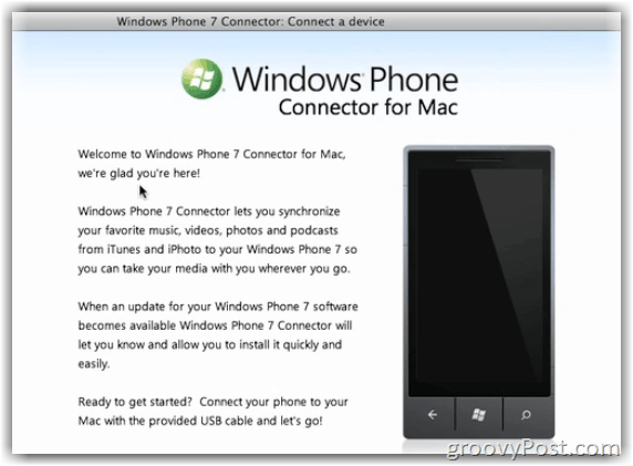 Windows 7 Phone Connector for MAC