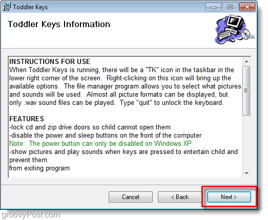 toddler keys installation