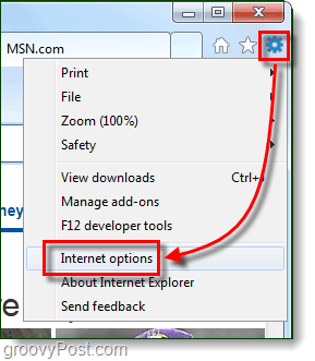 ie9 internet options
