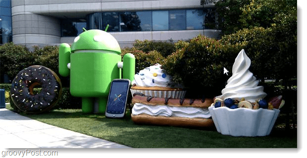 Android building statues