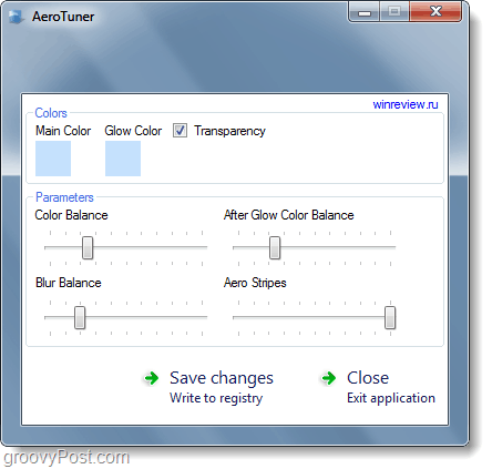 aerotuner screenshot