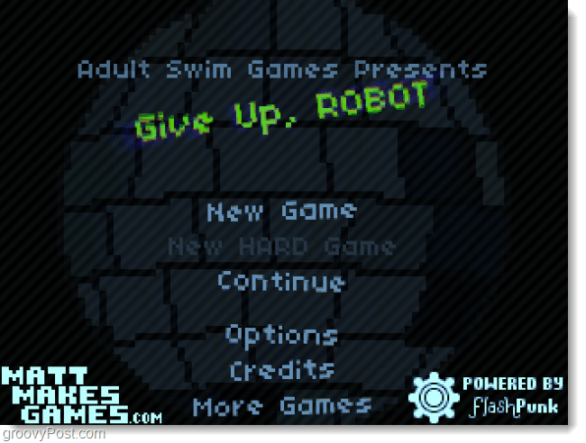 give up robot front page