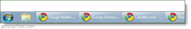 windows 7 taskbar no stack