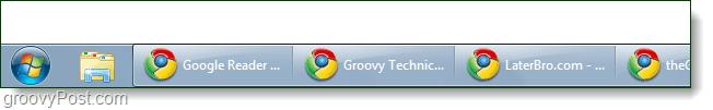 windows 7 taskbar no stack