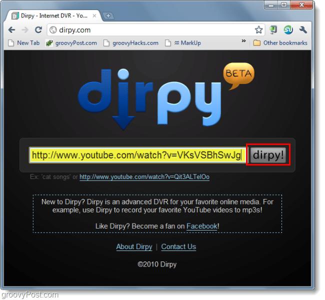 download youtube video using url dirpy