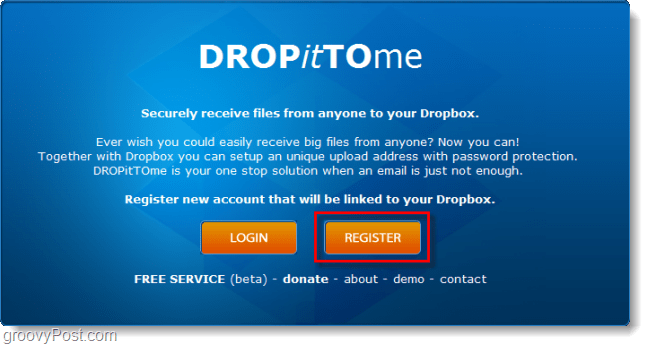 create a dropittome dropbox upload account
