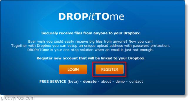 create a dropittome dropbox upload account