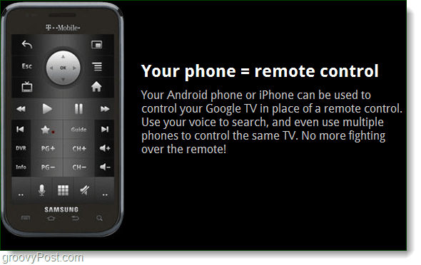Google TV remote control is your phone