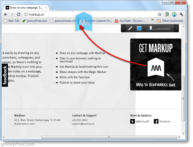 markup.io bookmark applet