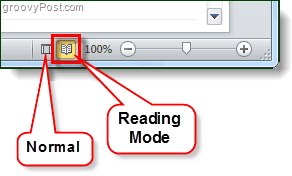 normal mode vs reading mode outlook