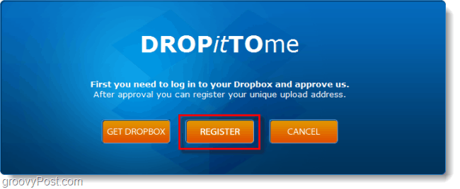 register a dropbox upload account