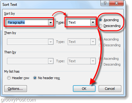 How To Sort Microsoft Word Lists Alphabetically