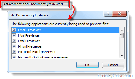 attachment and document previewers