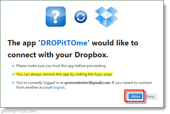 allow people to upload to your dropbox