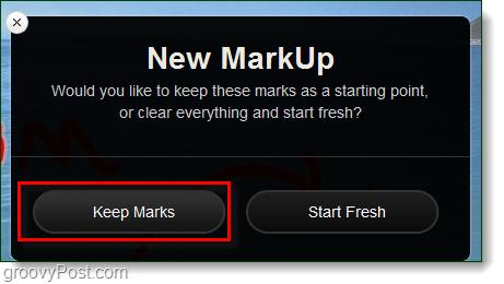 retain old markup
